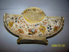 Antique Zsolnay Pottery #62 Hand Painted Basket Vase Bowl Hungary 10