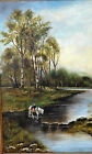 Nathaniel Hone the Younger Irish Painting Country Side Horse Crossing River