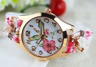 Fashion Stainless Steel Luxury Flower Quartz Girl Women Ladies Wrist Watch