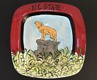 Cabell's Too NC State Univ Square Hand Painted Pottery Platter New With Tags