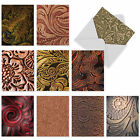 M3011 LEATHER BOUND 10 Assorted Thank You Note Cards w Matching Envelopes