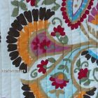 Storehouse FOLK FLORAL PAISLEY 3PC Queen QUILT SET Red Yellow Orange CREAM new