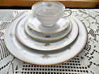 Noritake Joanne China 5 Pc Setting Colorful Flowers Beaded Gold Band 6 Available