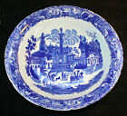 Vintage Blue On White China Victoria Ware Ironstone 19th Century porcelain bowl