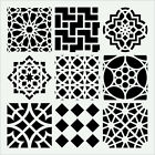 MOROCCAN TILE STENCIL 9 ASSORTED TILES LASER CUT TEMPLATE STENCILS NEW 6 X 6