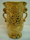 WEEPING-BRIGHT GOLD VASE, HAND DECORATED