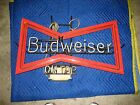 VINTAGE NEON BUDWEISER ON TAP BOW TIE BEER SIGN bowtie