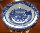 VICTORIA WARE IRONSTONE 3 Legged Footed Blue/White Serving Bowl