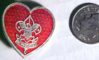 BOYS SCOUT --  large 'silver color' -- MOTHERS PIN  (heart rank)  LAPEL PIN