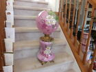 Antique Victorian Parlor Banquet Gone With The Wind Oil Lamp Hand Painted Shade