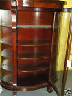 Sale Furniture Curved Glass Display Case Dining Antique Cabinet