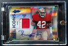 2010 Absolute NFL Icons RONNIE LOTT Prime Jersey Patch Auto 5 5