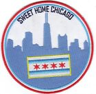 Sweet Home Chicago Sew on - Iron on Patch Chicago Flag 4
