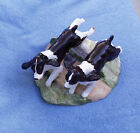 VERY RARE 1978 CALIFORNIA CLAY POTTERY CERAMIC SPRINGER SPANIELS IN MOTION