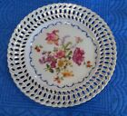 VICTORIA AUSTRIA RETICULATED CABINET DISPLAY PLATE-FLORAL BOUQUET 9
