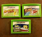 Lot LeapFrog Explorer LeapPad Games Mr. Pencil Globe Earth Adventures Spongebob