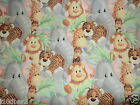 JUNGLE BABIES fabric PATTY REED JUNGLE BABIES fabric 1 + YD NEW FREE SHIP