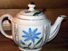 VTG NIPPON HAND PAINTED USA POTTERY FLORAL4 CUP TEA POT W/GOLD TRIM