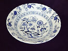 Blue Nordic Onion Classic White English Ironstone 8.25 inch China Serving Bowl