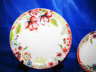 4pc 222 FIFTH Razzle Dazzle Red Dinnerware Dinner Plates Spring Flower