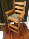 Custom American Hand-made Oak Mission Baby High Chair