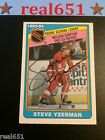 1984-85 O-Pee-Chee Set #385 STEVE YZERMAN Rookie Auto | Red Wings | Autograph RC