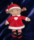PRECIOUS FIRSTS DOLL CHRISTMAS HOLIDAY AFRICAN AMERICAN PIGTAILS HEART RED DRESS