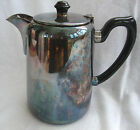 A GOOD QUALITY VINTAGE SILVER PLATED EPNS 2PT ENGLISH COFFEE / HOT WATER POT