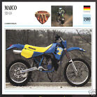 1989 Maico 320cc GS German Motocross Enduro Motorcycle Photo Spec Info Stat Card