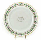Chinese Export Porcelain Dinner Plate, 19th Century Hand Painted Gilt