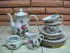 MOSS ROSE  FOURTEEN PIECE TEA/COFFEE SERVICE SET