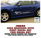 N840 2004 Ford Mustang - 40th Anniversary With Pony Side - Decal Set
