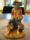 VTG GORT FIGURINE THE FRUIT VENDOR-MARKED/NUMBERED-BRIGHT COLORS-EX CONDITION