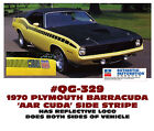 Qg-329 1970 Plymouth Barracuda - Cuda Aar - Side Stripe Decal Kit - Licensed