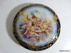 FRENCH COBALT BLUE GOLD PORCELAIN BOX JEWELRY HAND PAINTED ANTIQUE
