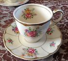 4 pairs GRINDLEY ENGLAND CREAM PETAL DEMI TASSE Cup and Saucer GOLD EDGED