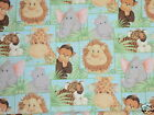 JUNGLE BABIES fabric PATTY REED PATCHWORK JUNGLE BABIES cotton fabric 1+yds NEW