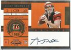 2011 Playoff Contenders Andy Dalton Rc Auto Autograph Rookie Ticket BENGALS #225
