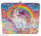 Lisa Frank Collectible Embossed Tin Lunchbox & 100pc Puzzle NEW
