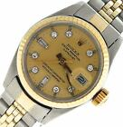 Ladies Rolex DateJust Two-Tone 14K Gold Stainless Steel Diamond 26mm 6917 Watch