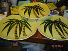 3 Vintage TAHITI by Continental Kilns Hand Painted Palm Trees 10