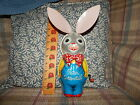 Vintage Easter MATTEL Peter Cottontail Tin Plate Litho Wind Up Music Box