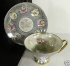 Vintage Cup and Saucer Set Made Japan Luster Lustre Ware Indents Floral various
