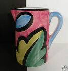 Ceramic 9 Cup Water Iced Tea Pitcher Made Portugal Pier 1 One Pink Yellow Blue