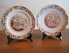 2 RARE ANTIQUE PLATES CHARLES ALLERTON & SONS ENGLAND C 1910