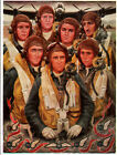 RAAF ROYAL AUSTRALIAN AIR FORCE No.460 SQUADRON LANCASTER BOMBER CREW PRINT