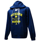 MICHIGAN WOLVERINES Sx XL Hockey Hooded Sweatshirt