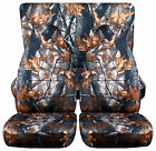 cool set front+back seat covers in camo real tree 4 Geo tracker  high quality
