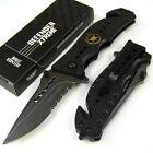 Stone Washed Special Forces Tactical Spring Assisted Pocket Rescue Knife W7346-W
