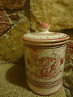 Italy Deruta Raffaellesco Pottery Canister Hand Painted
